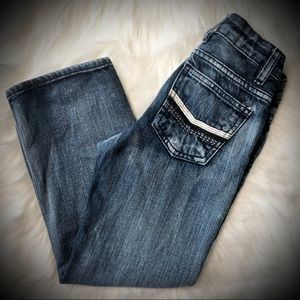Route 66 Bottoms - Route 66 Distressed Boys Slim Straight Jeans